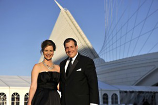 Rick and Nicole at Milwaukee Art Museum photo